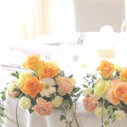 会場装飾花